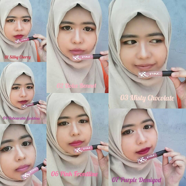 7 warna PAC Satin Matte Lipcream