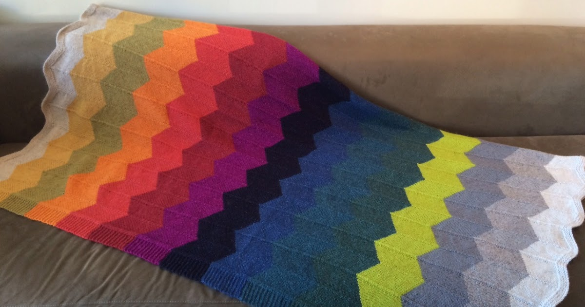 Clementine Knits Chevron Gradient Afghan