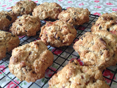 cherry cognac rock cakes