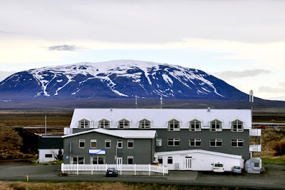 A hotel for families on Lake Myvatn in Iceland