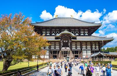 estrangeiros visitaram o Japão