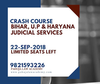 Crash Course For Haryana Bihar and UP Judiciary  - Pahuja Law Academy