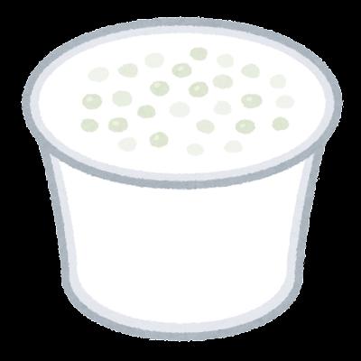 タピオカココナッツミルクのイラスト