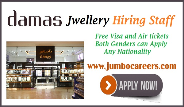 Jwellery jobs in Gulf countries, UAE jobs with salary and benefits,
