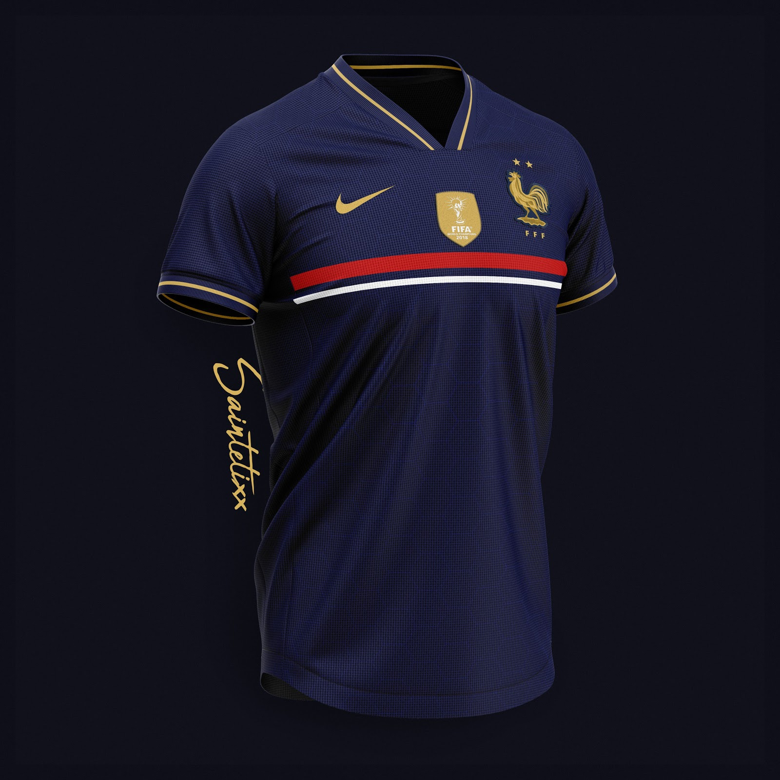 quality design e4358 a59c9 Stunning Nike France 2019 Concept Kits By Saintetixx - Footy ...