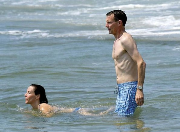Prince Joachim and Princess Marie is on holiday in Saint-Tropez of south France. Saint-Tropez holiday of Prince Joachim and his wife Princess Marie