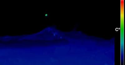 Immagine ad infrarossi dell'UFO sopra l'Etna