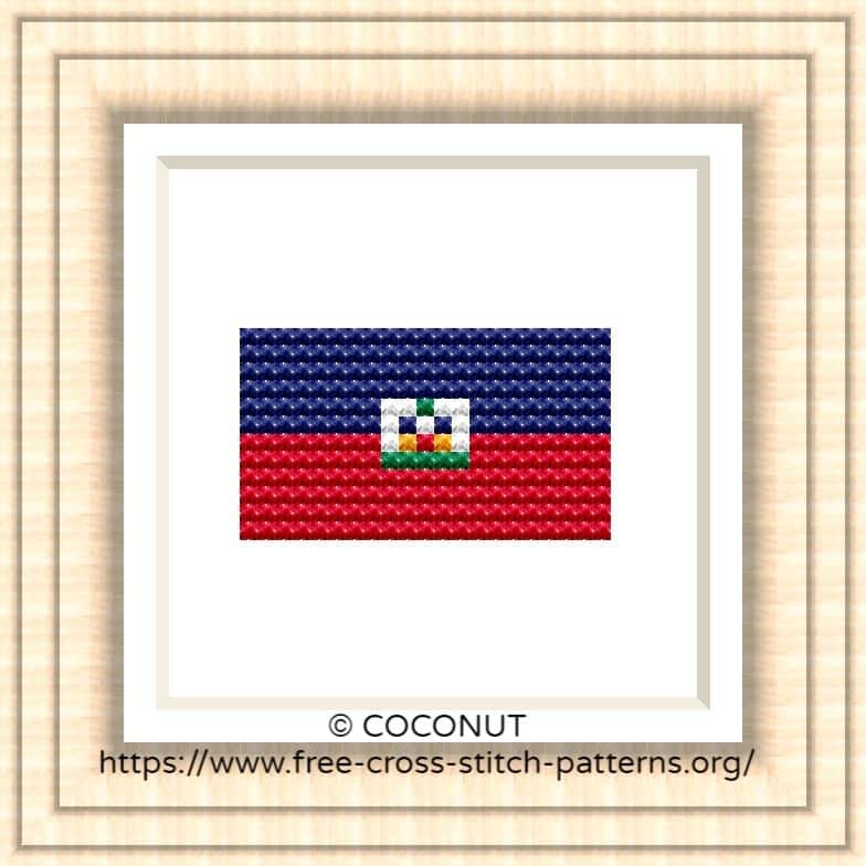 NATIONAL FLAG OF HAITI CROSS STITCH CHART