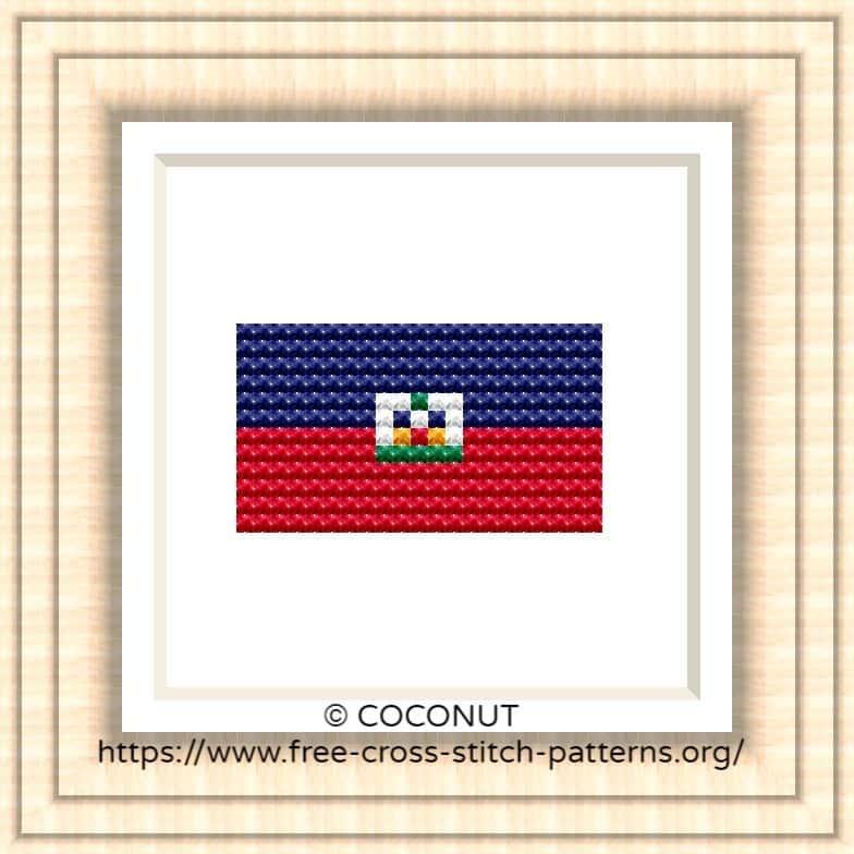 NATIONAL FLAG OF HAITI CROSS STITCH CHART