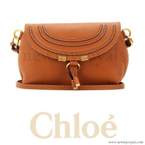 Crown Princess Mary style Chloé Marcie Petite Leather Shoulder Bag