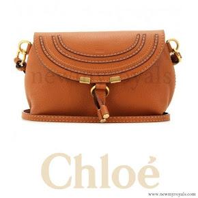 Crown Princess Mary style Chloé Marcie Petite Leather Shoulder Bag