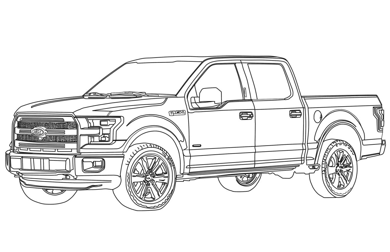 Click to see printable version of Ford Raptor Coloring page