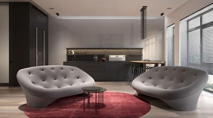 Thiết kế nội thất chung cư 60m2 cho vợ chồng trẻ- 4
