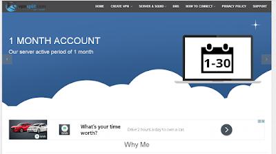 VpnSplit untuk membuat akun vpn Premium 1 bulan