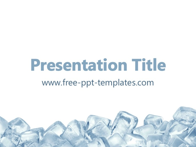 ice cubes ppt templates, Modern powerpoint