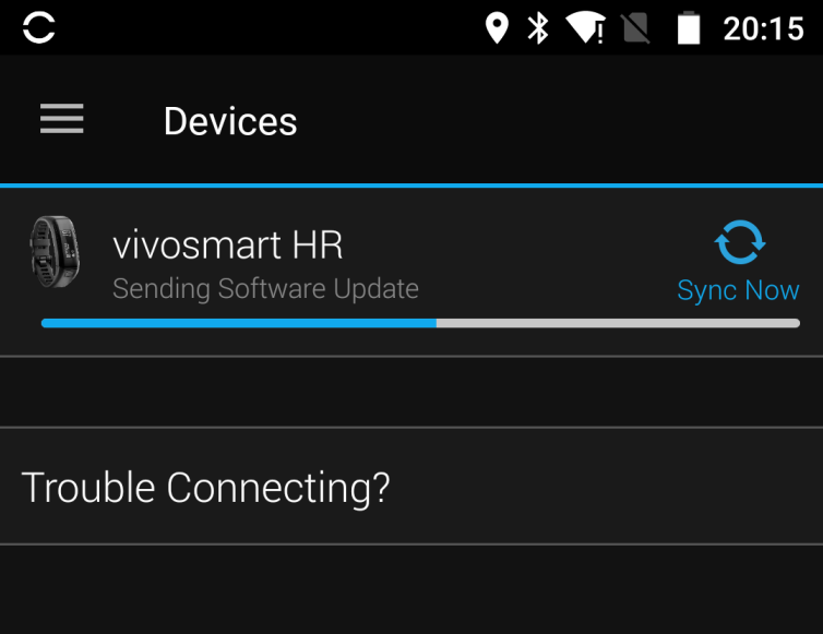 Garmin updating bluetooth firmware