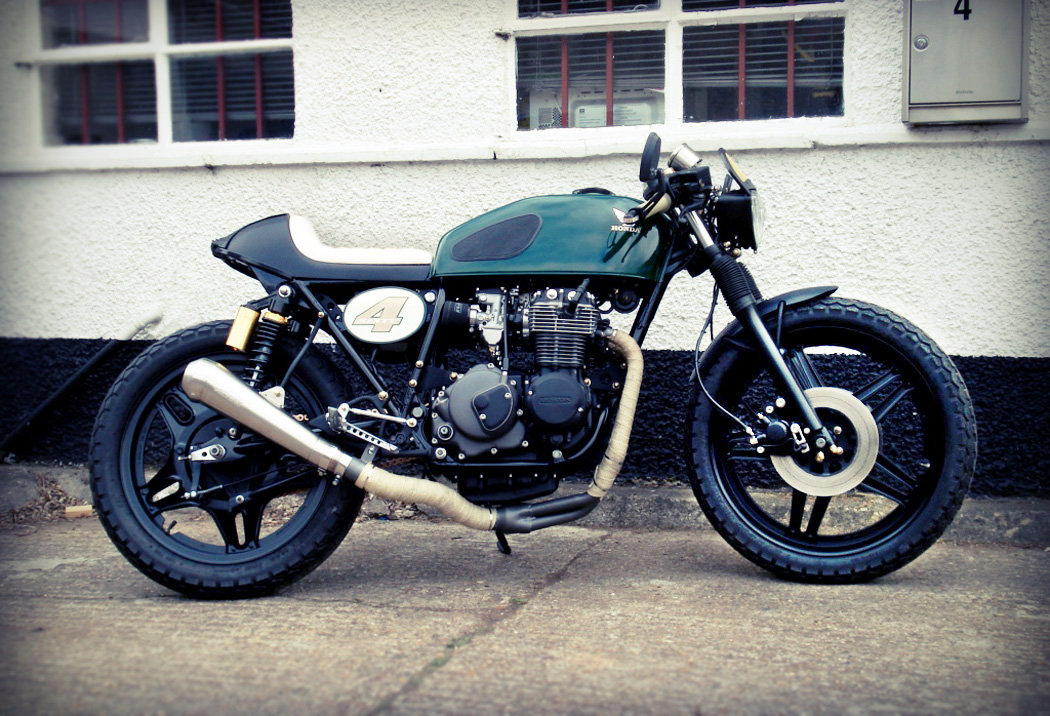 free the wheels stew s honda 400four cafe racer. Black Bedroom Furniture Sets. Home Design Ideas