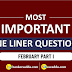 Current Affairs February 2019 - One Liners Questions| Part-I (Download PDF)