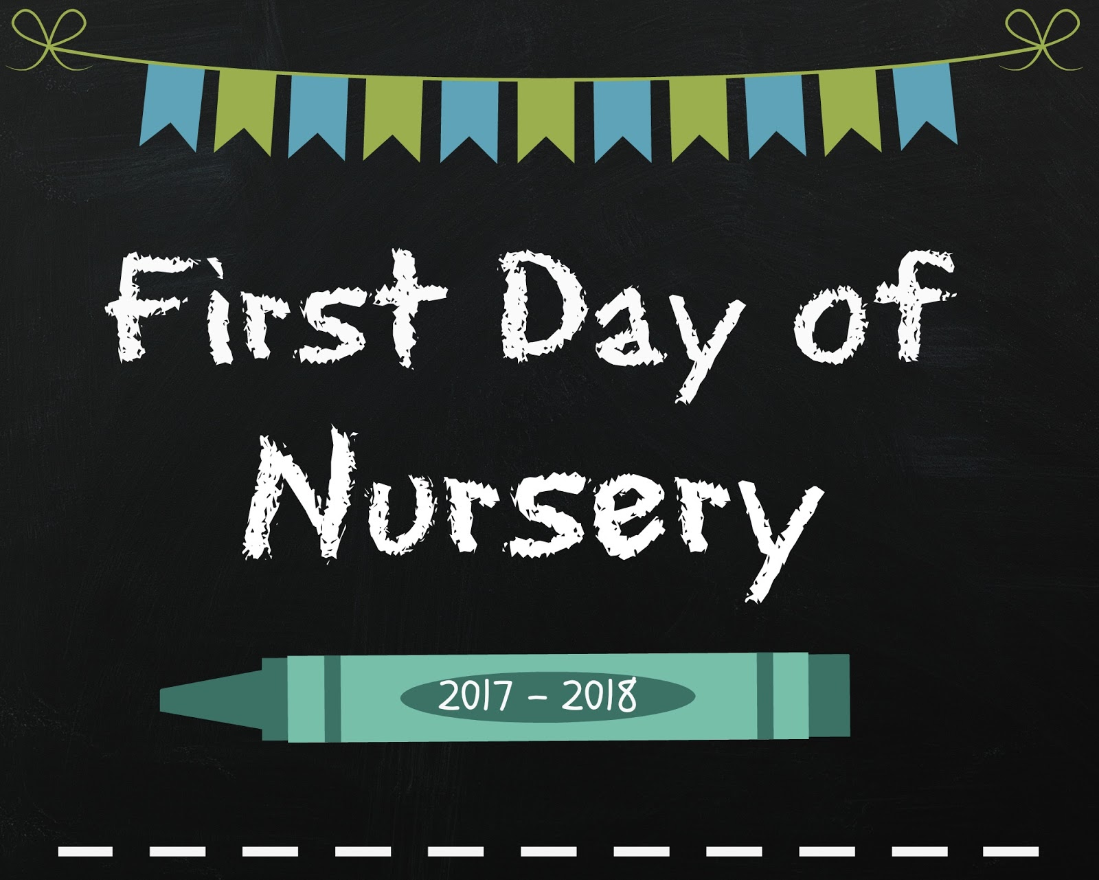 So I Ve Quickly Made A Few Of My Own And Thought That Would Share Them In Case Anyone Else Wanted Quick Sign To Print Out First Day Nursery