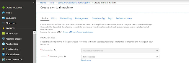 Create Virtual Machine Basics