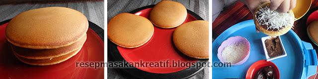 resep dorayaki mudah tanpa cetakan atau dengan teflon ini mempunyai rasa yang lezat berte Resep Dorayaki Teflon Mudah Coklat Keju Kue Asli Jepang