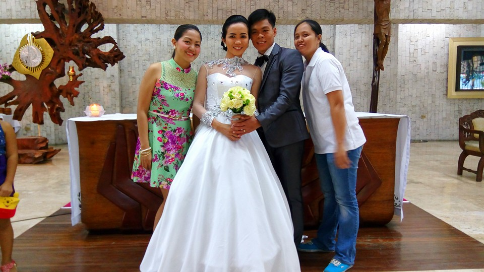 In The Photo Is Me Green Floral Dress And My Ever Reliable Business Partner Joan We Both Planned Wedding Together With Bride Groom