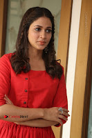 Actress Lavanya Tripathi Latest Pos in Red Dress at Radha Movie Success Meet .COM 0202.JPG