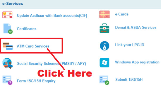 how to activate a new sbi atm card online