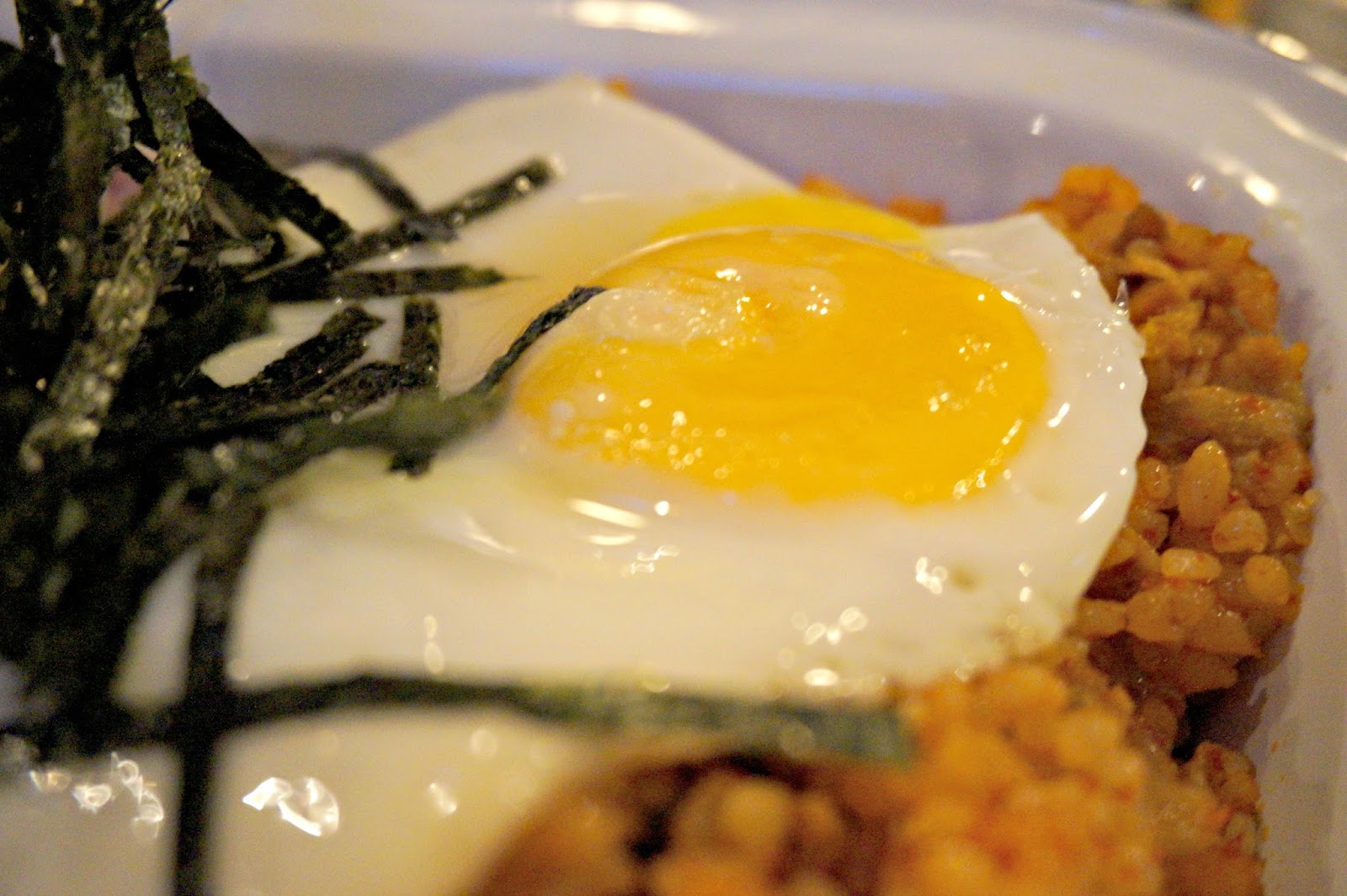 close up of egg yolk