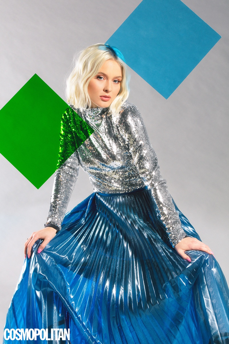 Singer Zara Larsson wears party-ready looks for Cosmopolitan shoot