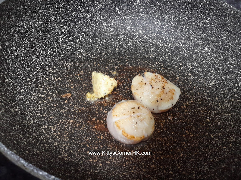 Sauteed scallops with butter and garlic DIY recipe 香蒜牛油煎帆立貝自家食譜