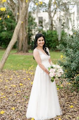 bride in wedding dress photo