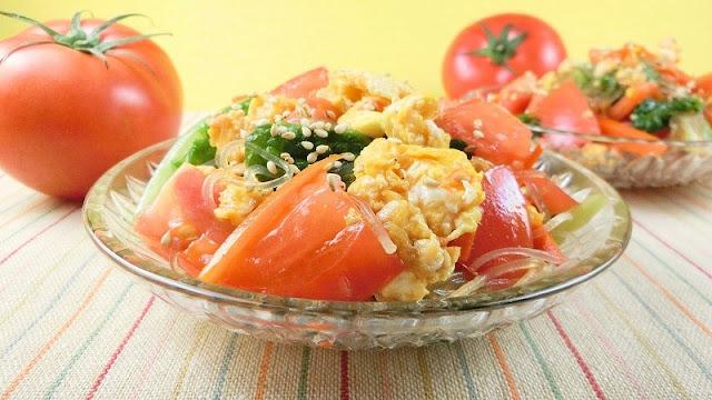 トマトと春雨の彩り中華サラダ