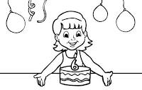 דפי צביעה יום הולדת 6
