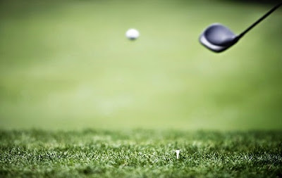 Palo y bola de golf en tee de la Costa del Sol