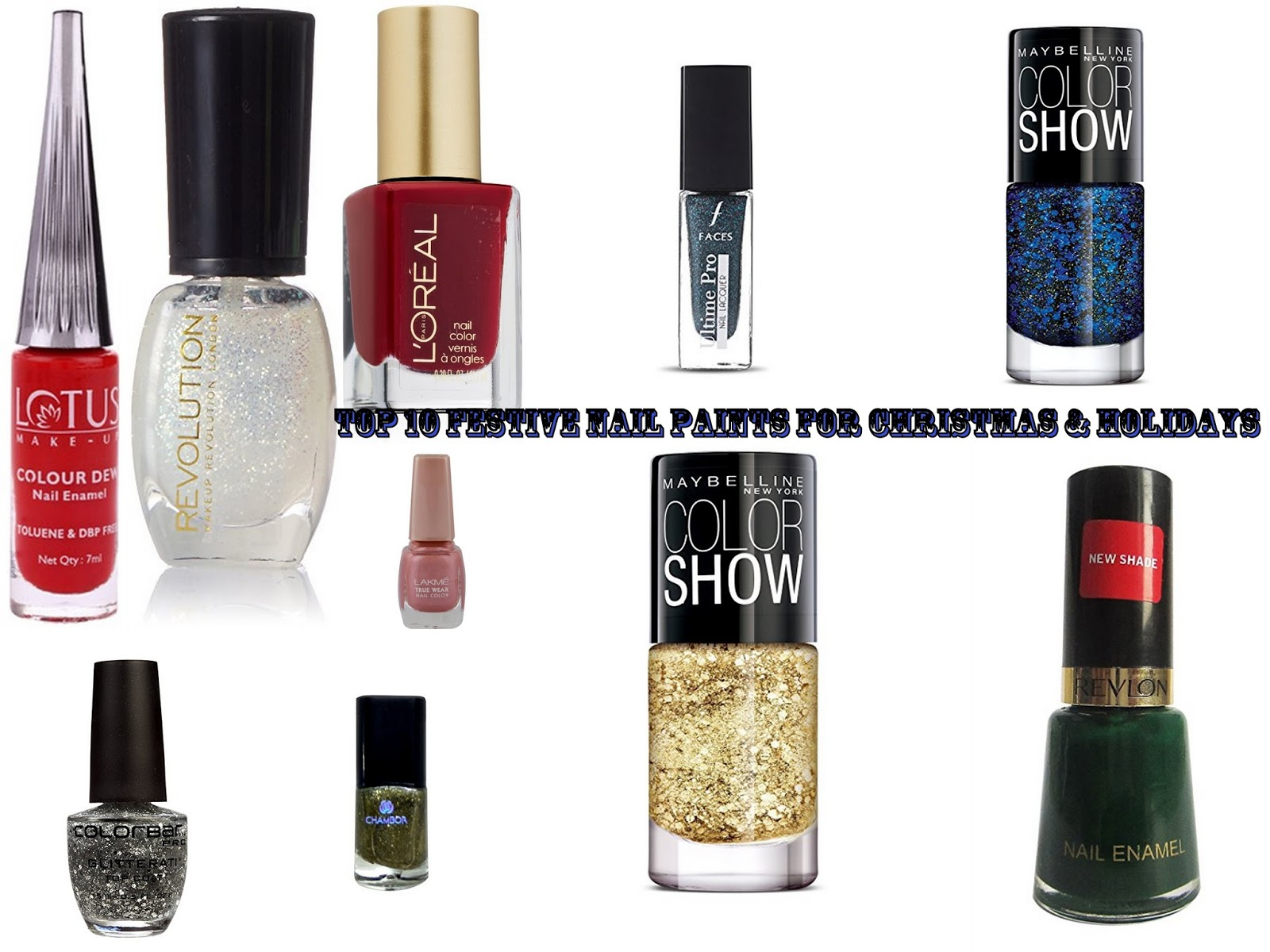 Top 10 Festive nail paints for Christmas & Holidays
