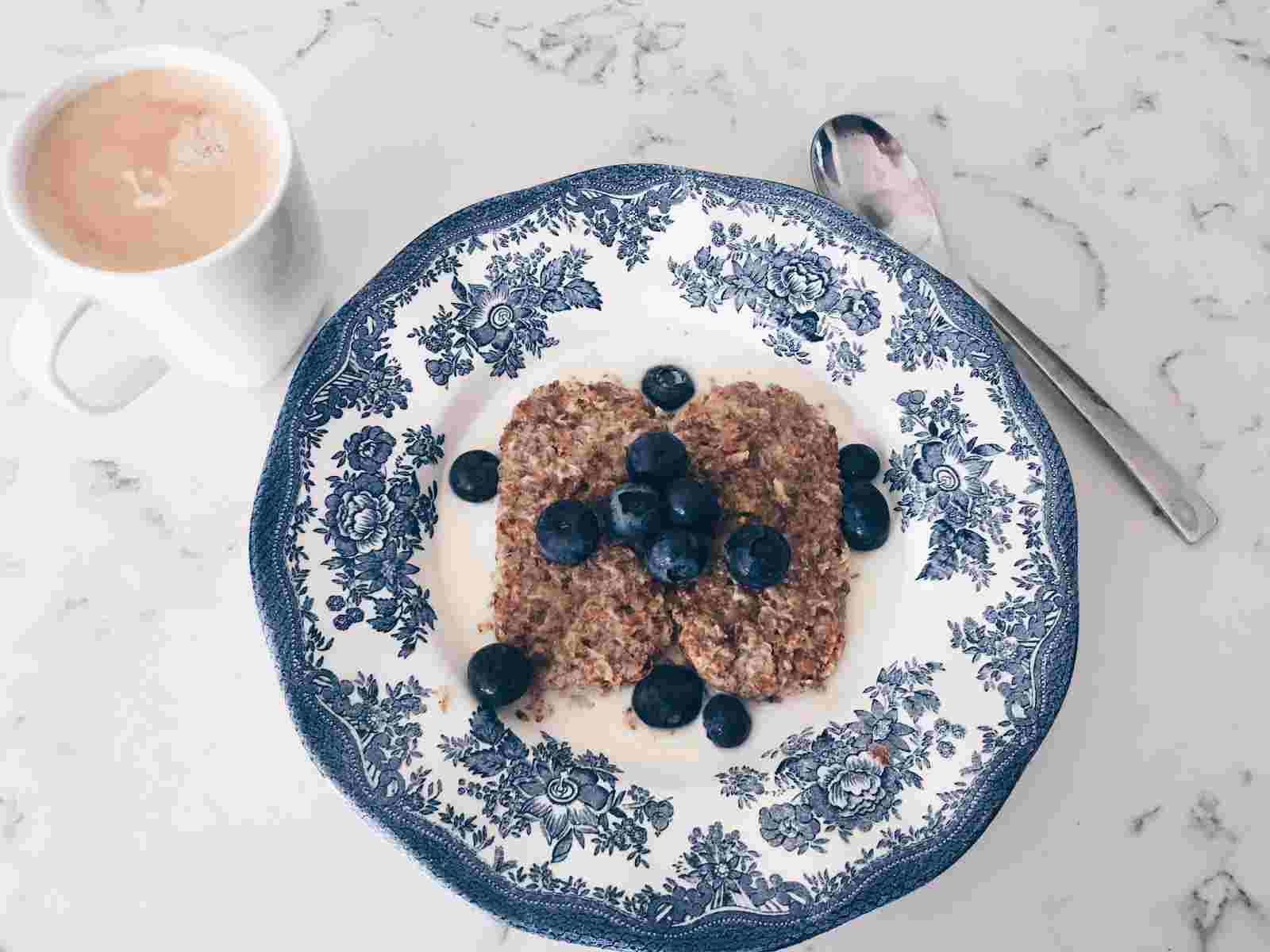 Weetabix and blueberries