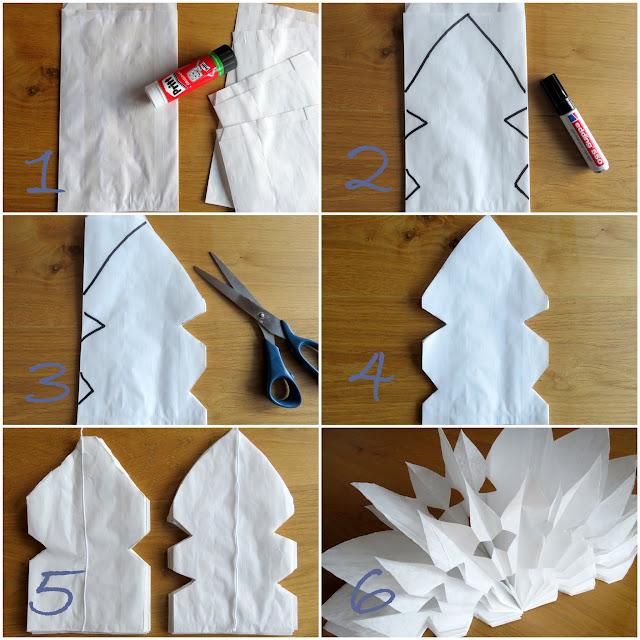 bodenseewellen einfacher papierstern diy. Black Bedroom Furniture Sets. Home Design Ideas