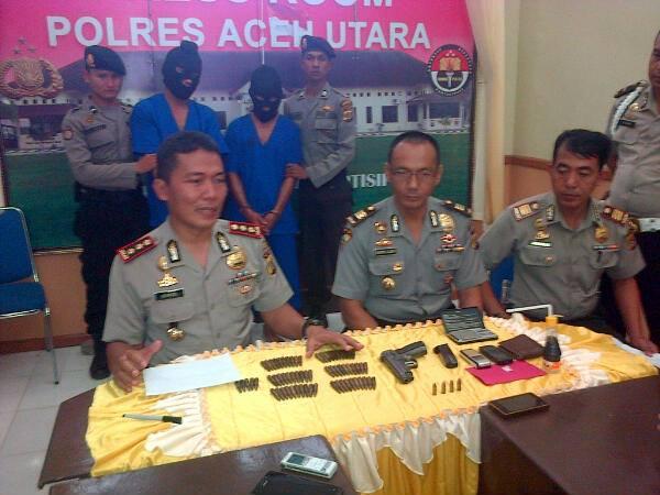 Miliki Sabu dan Senjata Api, Dua Pria di Aceh Utara Ditangkap Polisi