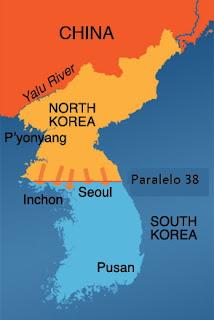 Guerra das Coreias divisão