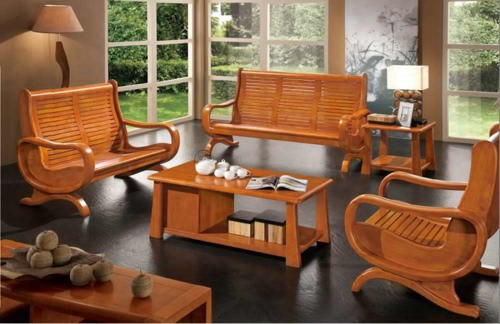 Wooden Sofa Sets for Living Room All Wood - Home Cheap Solution