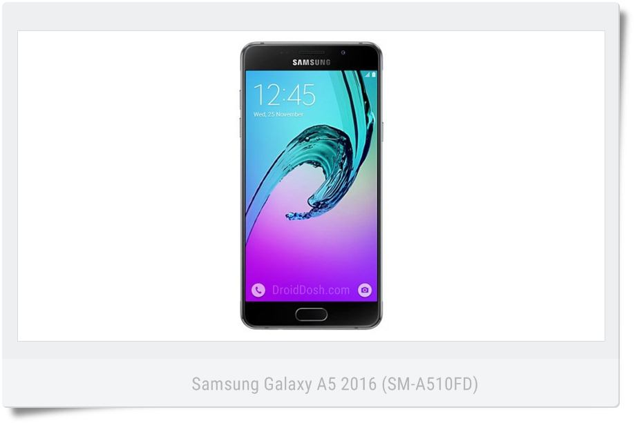 Galaxy A5 SM-A510FD Nougat stock firmware with product code THL from Thailand.