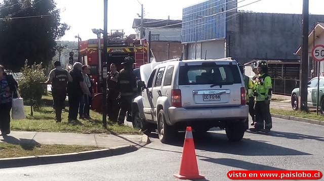 Osorno: colisión vehícular en el sector de Rahue Bajo