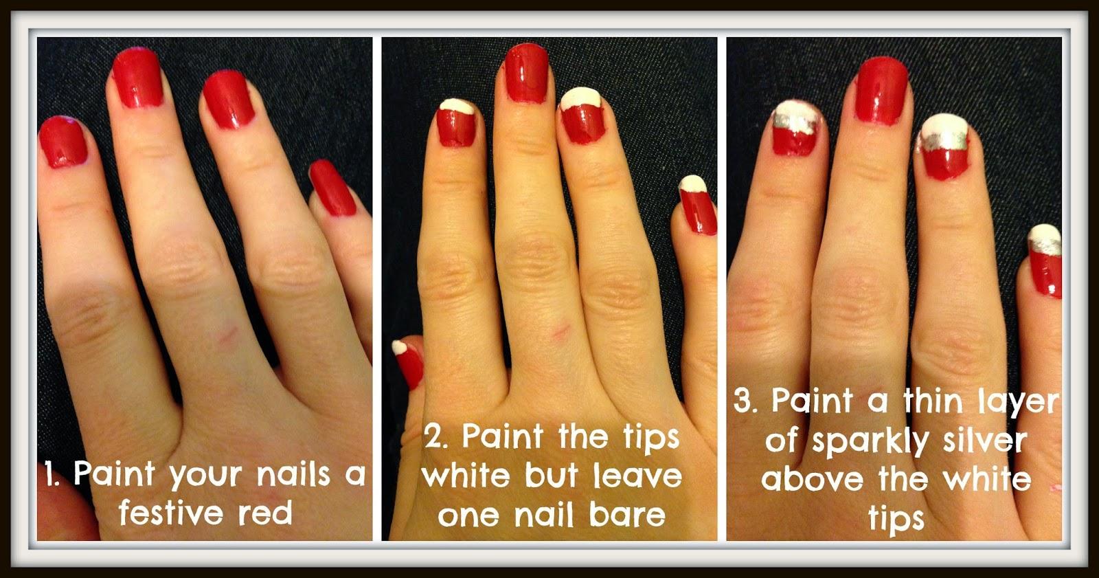 santa baby christmas themed nail tutorial