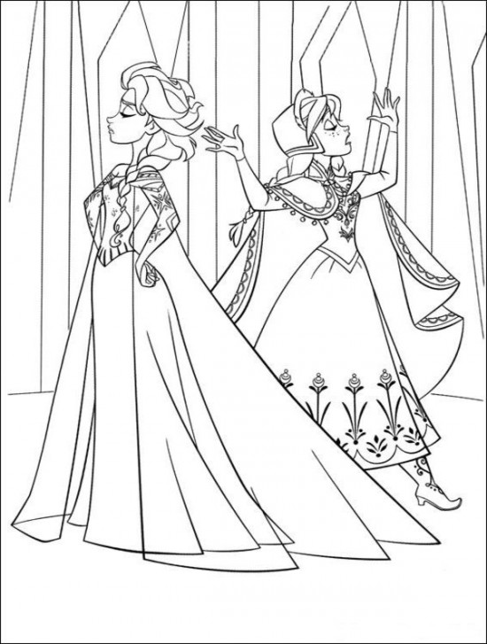 frozen coloring number pages - photo#14
