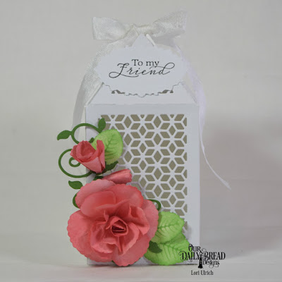 Our Daily Bread Designs Stamp Set: To My Friend, Custom Dies: Rose Leaves, Roses, Luminous Lantern, Fancy Foliage, Ornate Ovals