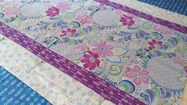 Free Motion Fantasy fabrics baby quilt
