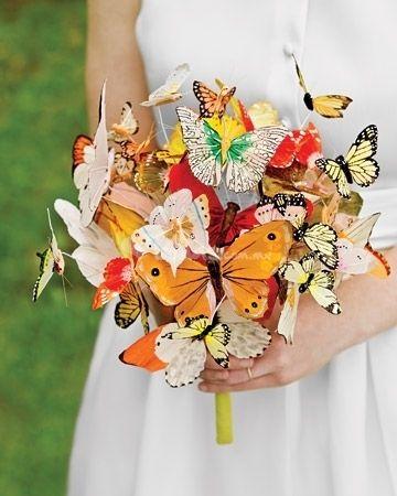 Buquê borboletas, para daminhas de honra