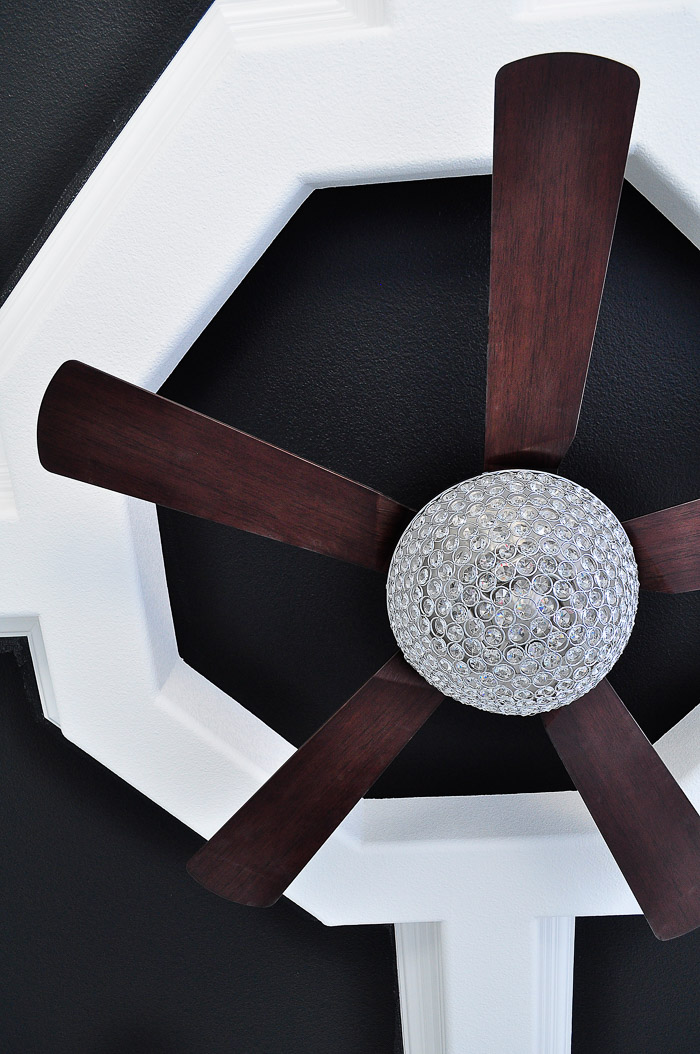Parklake Chandelier Ceiling Fan Review: Our lighting choices for our new home. Learn how we saved $1000.   via monicawantsit.com