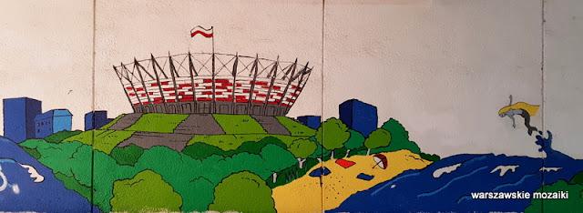 Warszawa Warsaw mural streetart Saska Kępa
